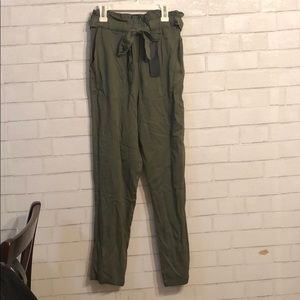 Know One Cares Olive green trousers